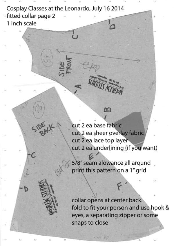 el wire cosplay collar pattern