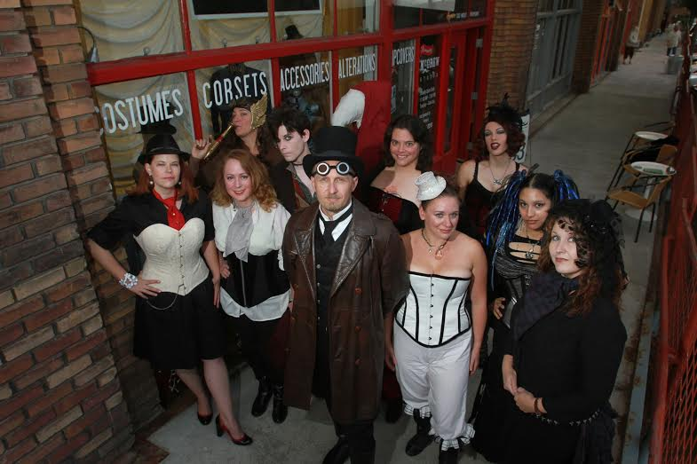 Staff and friends, steampunk in Salt Lake. Photo courtesy of Rick Egan, The Salt Lake Tribune