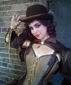 The lovely Amber Pearson in McGrew Studios custom corset and steampunk attire