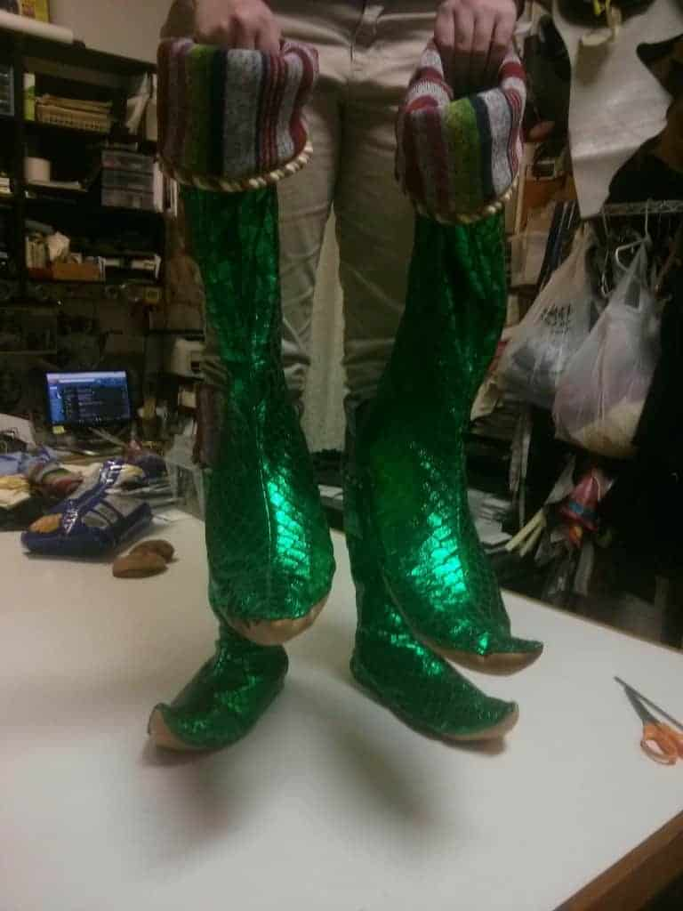 Custom elf boots and spats