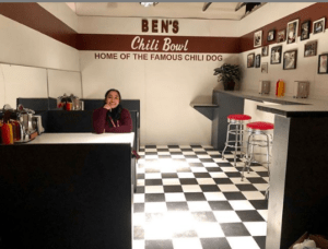 McGrew Studios' custom set design & build for @benschilibowl VRExperience for Felix & Paul Studios. Shown here: the film, Traveling While Black's producer @ayesha_nadarajah