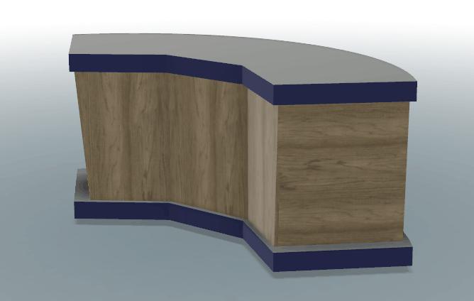 BladeHQ custom table CAD pre-viz3 in 3D perspective
