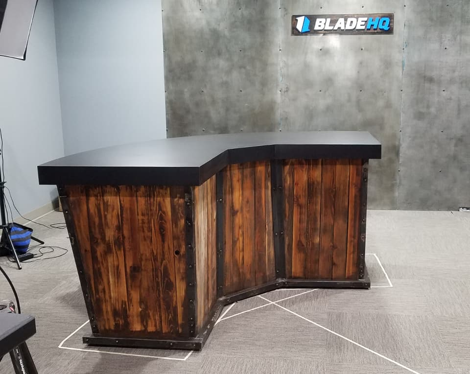 BladeHQ finished custom designed and built table